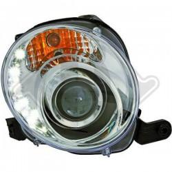 LAMPY PRZEDNIE    500, Fiat 500 Lim./Cabrio 07-