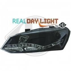 LAMPY PRZEDNIE    POLO, Volkswagen Polo 3/5 trg. 09-14