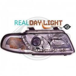 LAMPY PRZEDNIE      A4, Nach Baugruppen Real DRL Headlights Echtes Tagfahrlicht