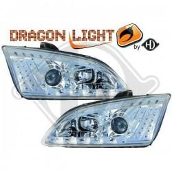 LAMPY PRZEDNIE  FOCUS, Nach Baugruppen DragonLights Daylight
