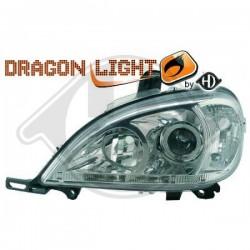 LAMPY PRZEDNIE W163, Mercedes M-Kl. W163 98-05