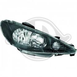 LAMPY PRZEDNIE  206, Peugeot 206/206CC 98-08